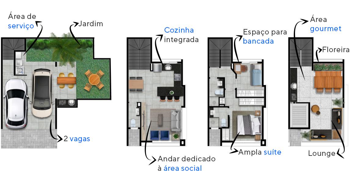 Planta do Cube Itaim. floorplan