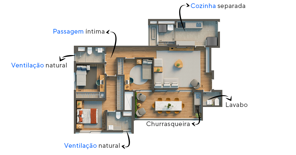 Planta do Home Spot Vila Clementino. floorplan