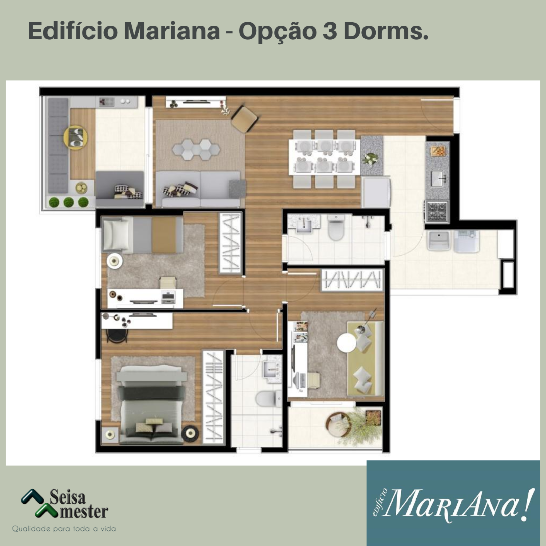 Planta do Edifício MariAna!. floorplan
