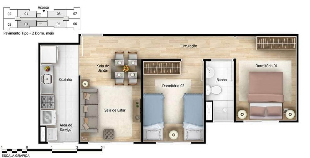 Planta do Altos de Itaquera. floorplan