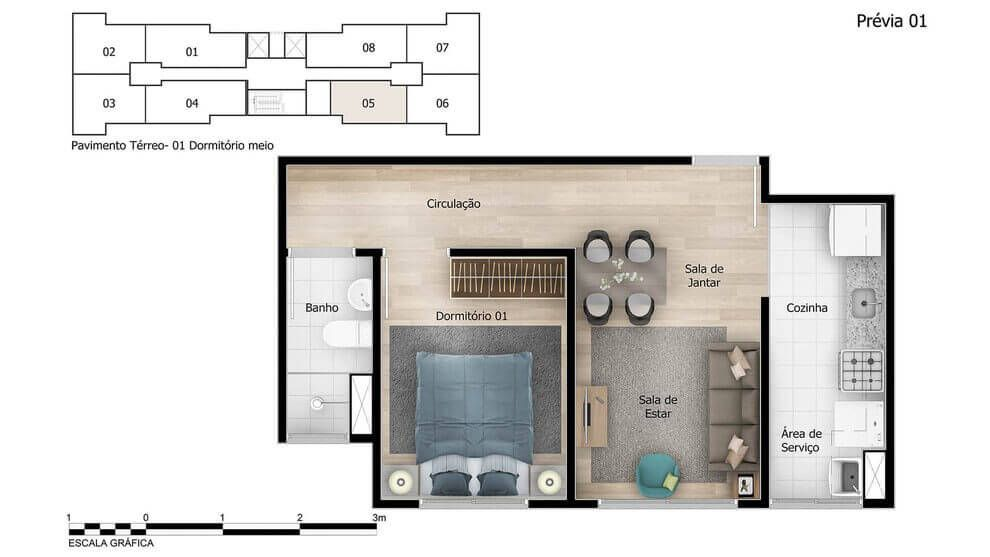Planta do Verona. floorplan
