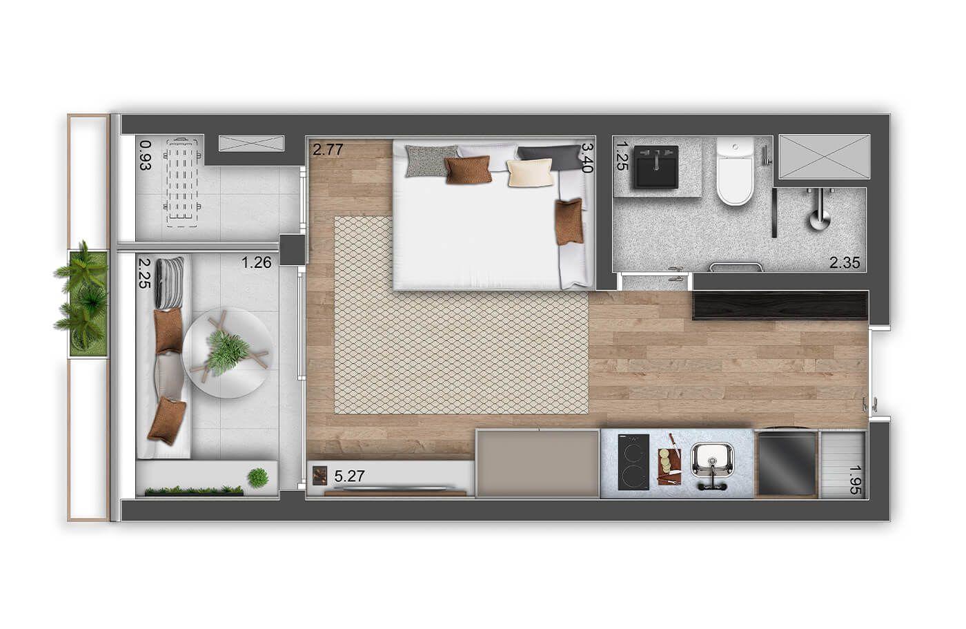 Planta do Haus Mitre Perdizes. floorplan