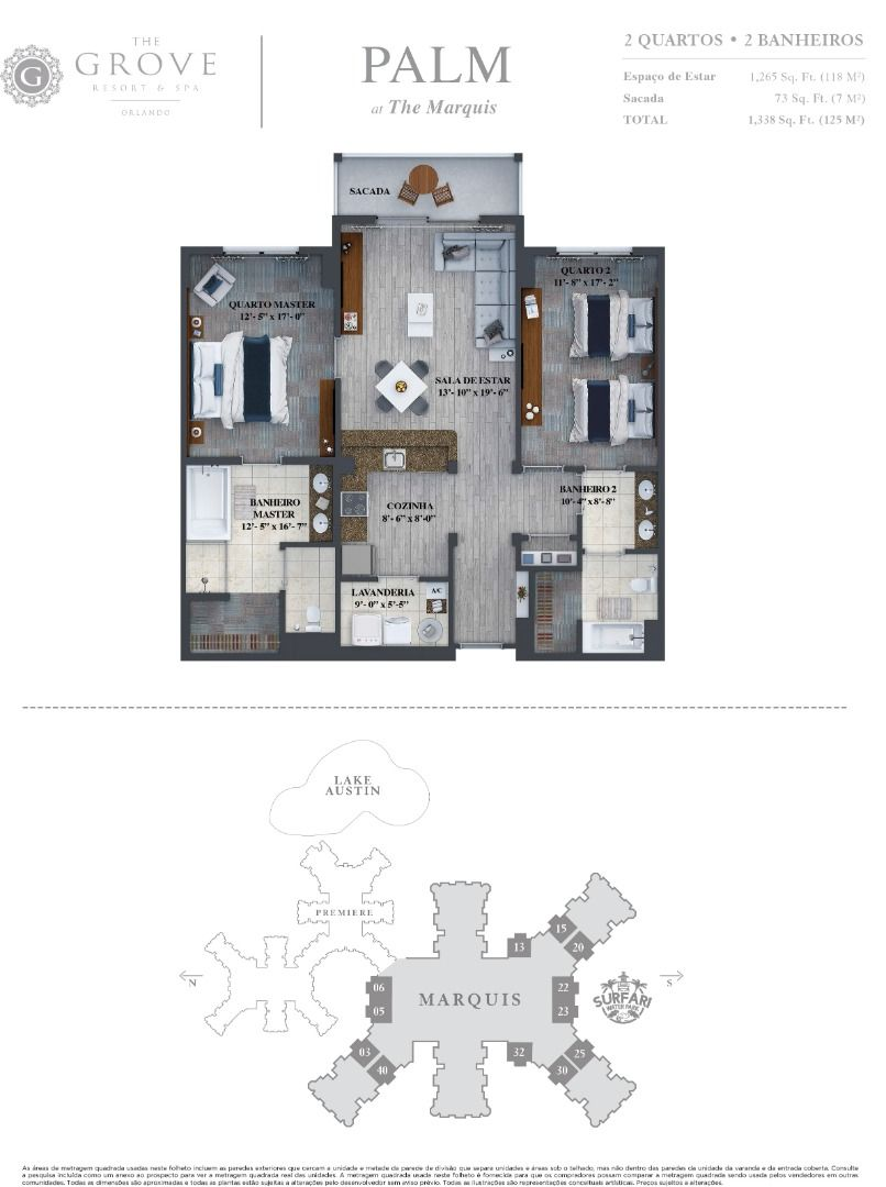 Planta do The Grove Resort & SPA. floorplan