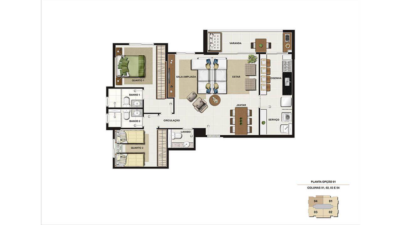 Planta do Sublime Oásis Spa Resort. floorplan