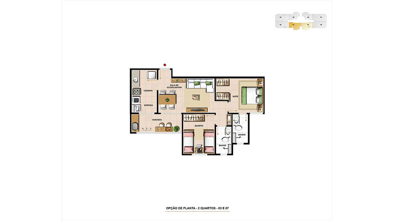 Planta do Supremo Residence. floorplan