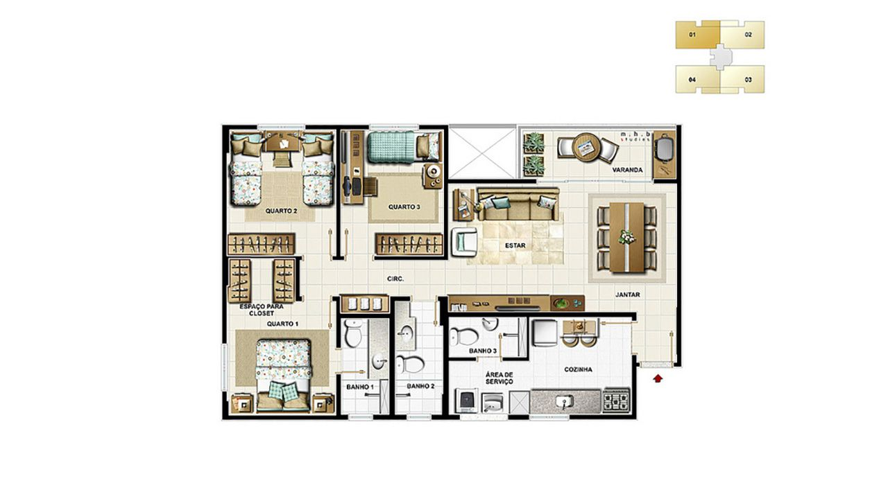 Planta do Emotion. floorplan