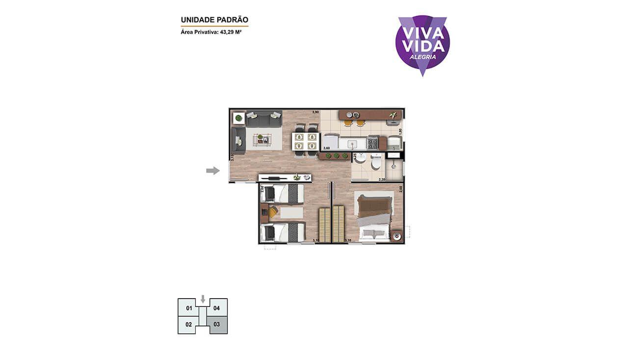 Planta do Viva Vida Alegria. floorplan