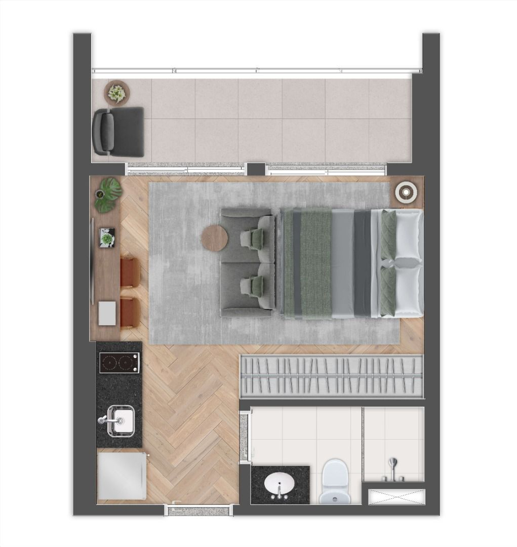 Planta do Soul Brooklin. floorplan