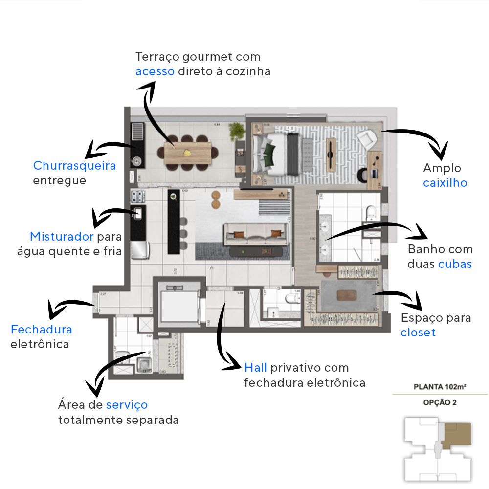 Planta do Normandie Moema. floorplan