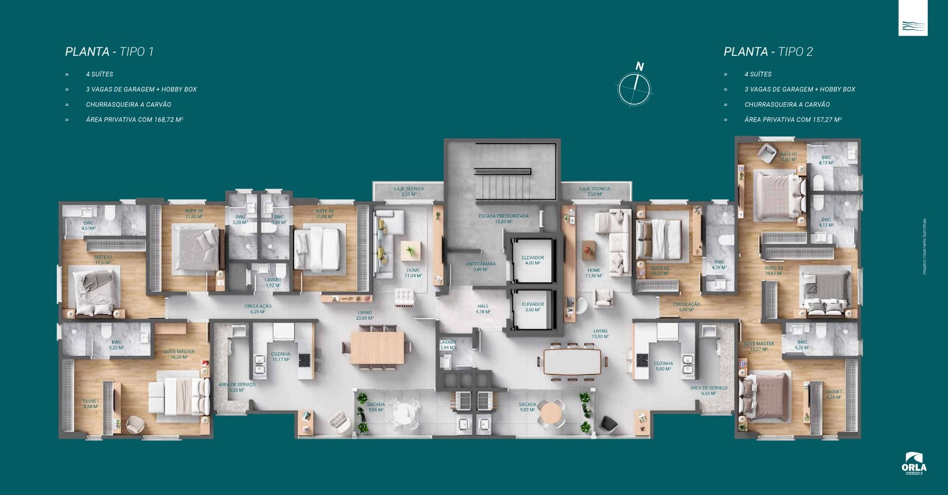 Planta do Las Brisas Residence. floorplan