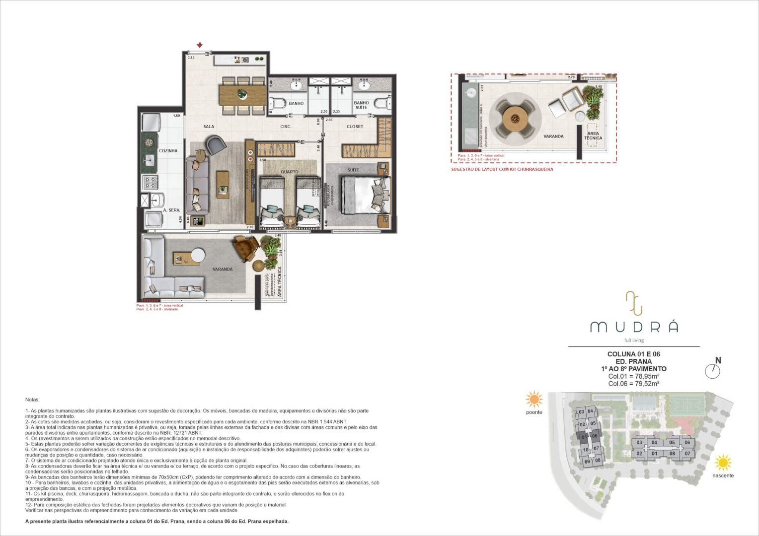 Planta do Mudrá Full Living. floorplan