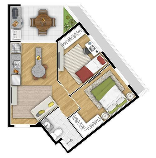 Planta do Vivavita Diadema. floorplan