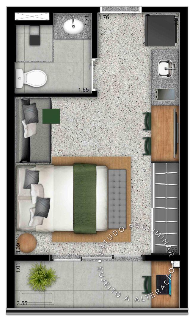 Planta do B.Side Faria Lima. floorplan
