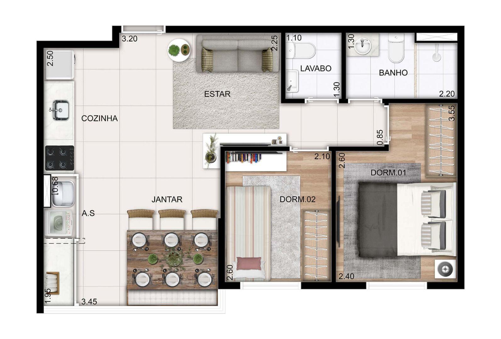 Planta do Ideale Locan. floorplan
