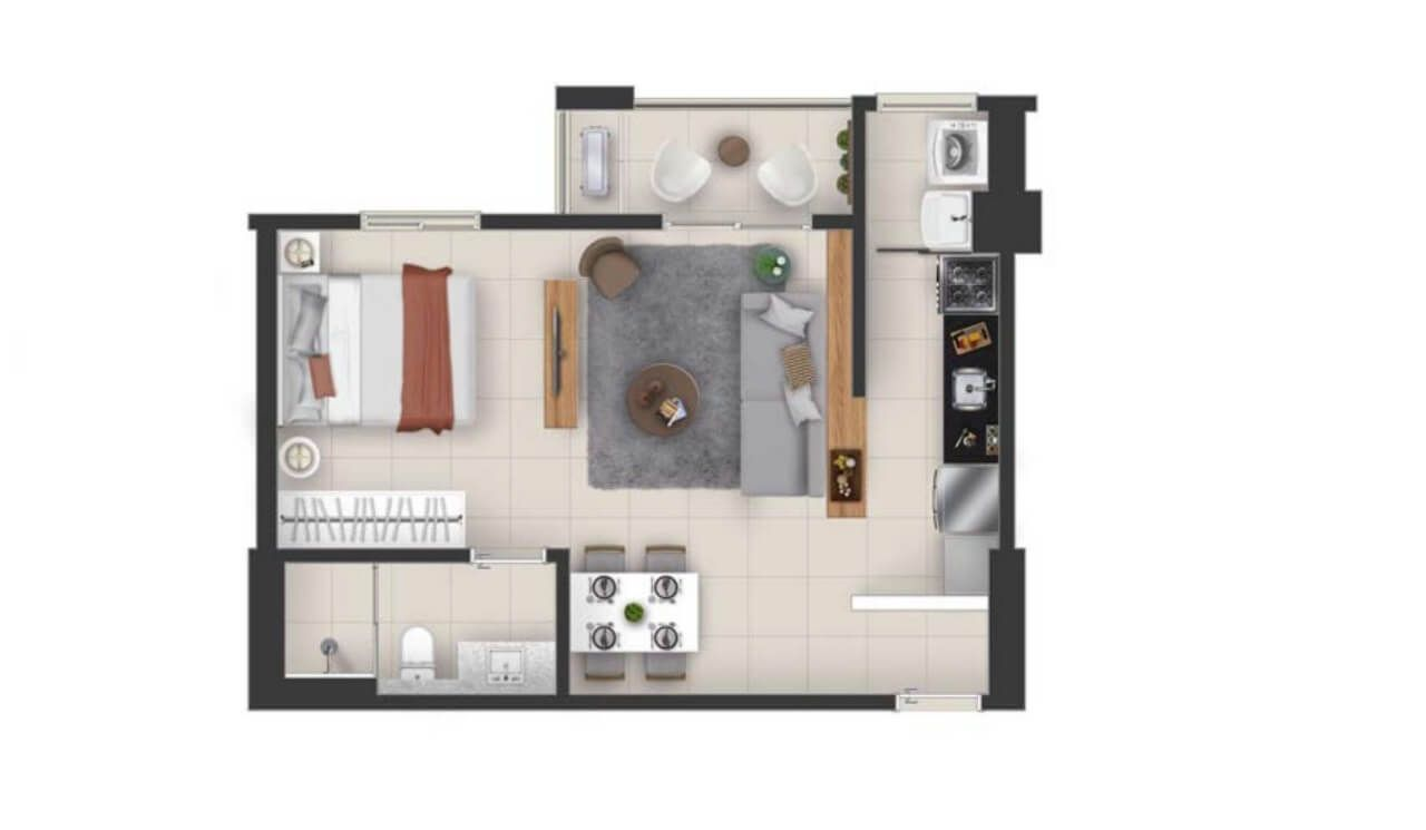 Planta do Apogeo. floorplan
