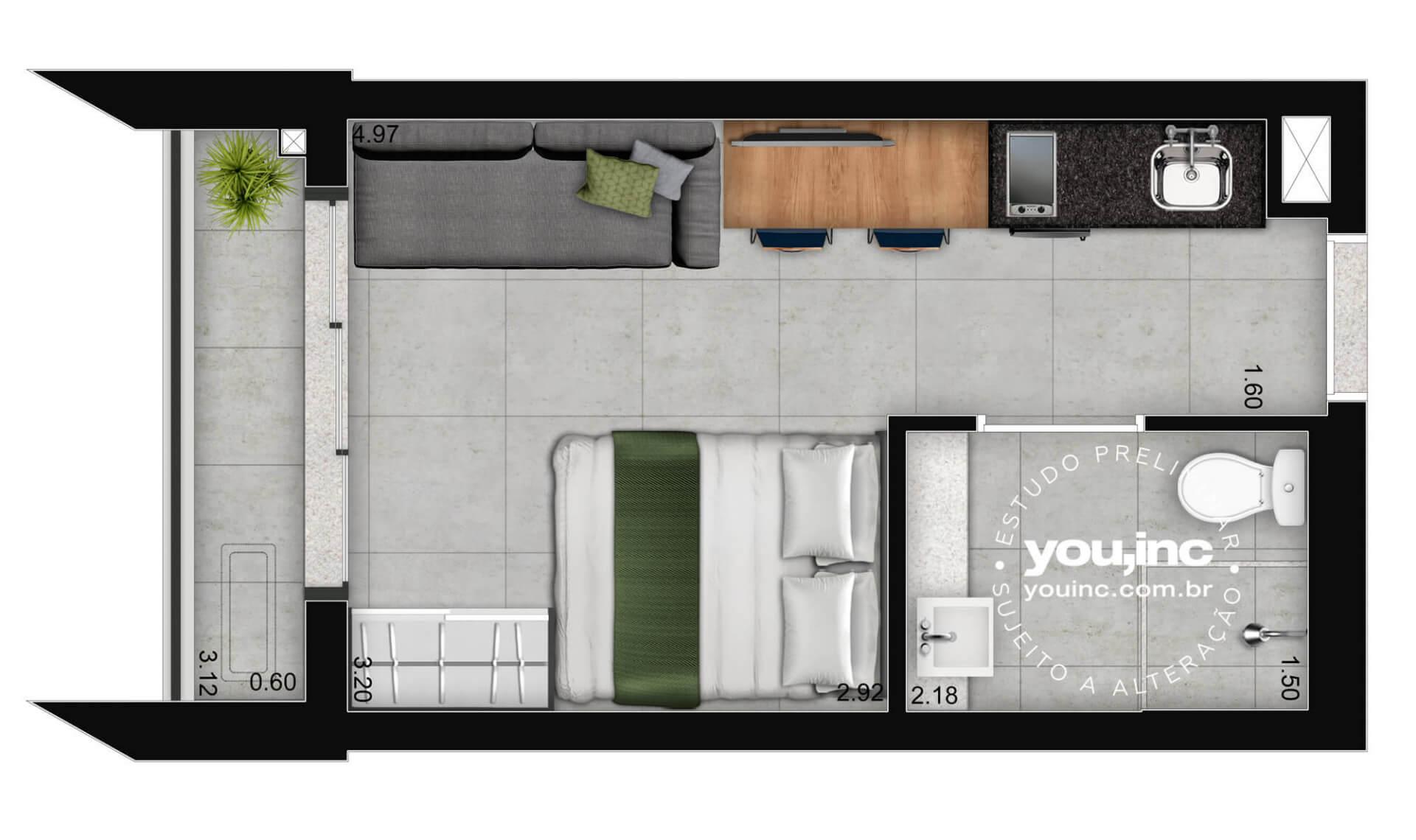 Planta do Versa Brooklin. floorplan