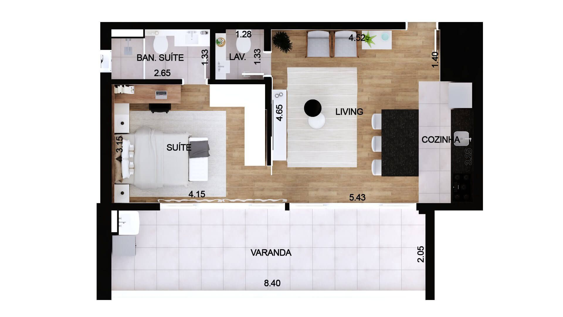 Planta do Edifício Limited Itaim. floorplan