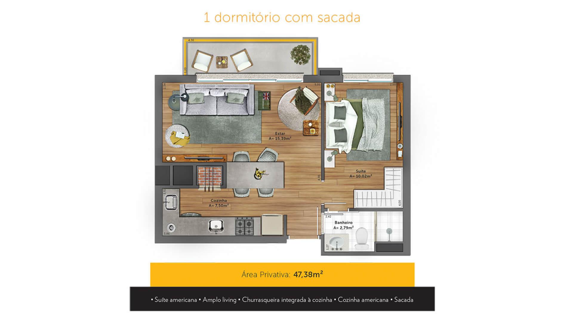Planta do Yellow Residence. floorplan