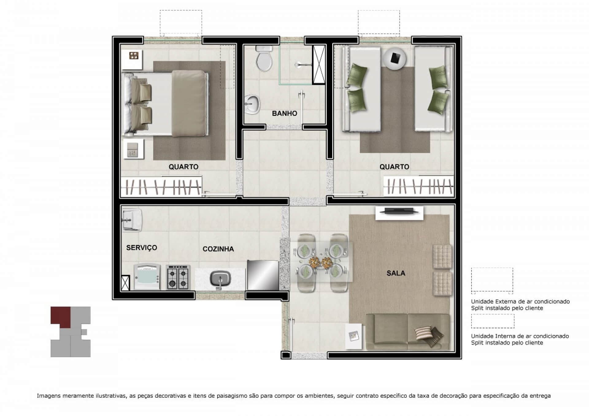 Planta do Jardim Unique. floorplan