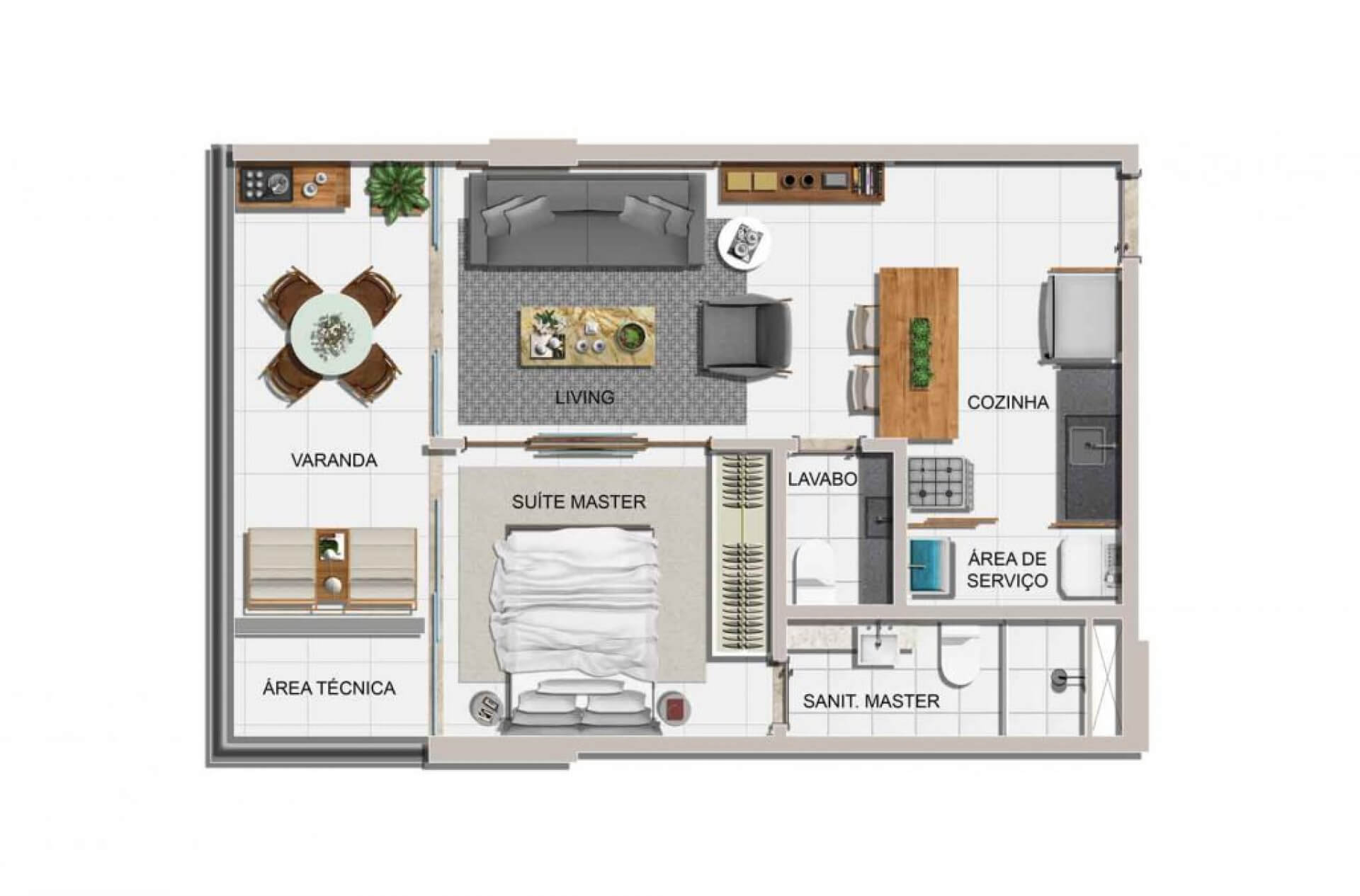 Planta do JAZZ. floorplan