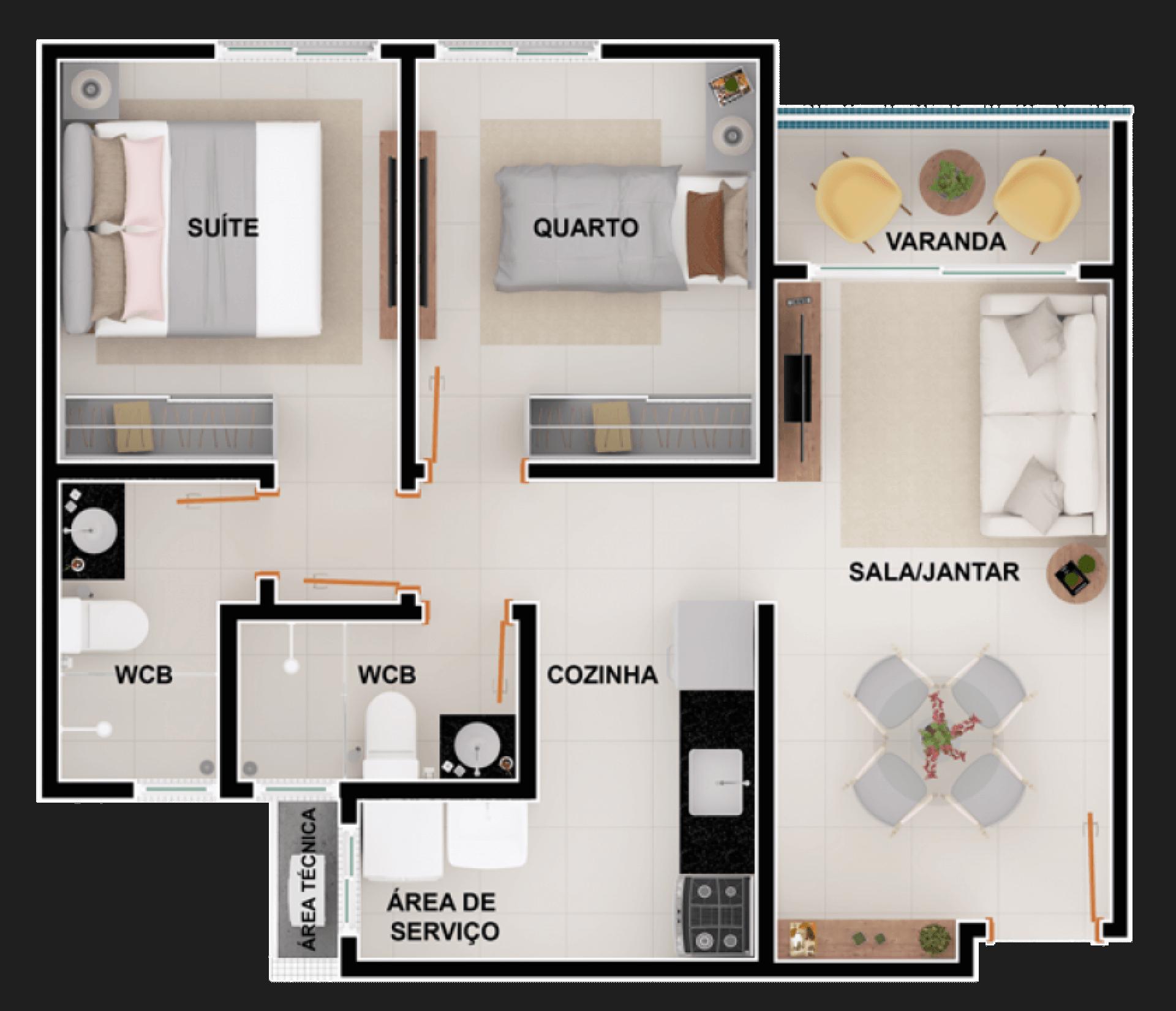 Planta do Julita Formiga Condomínio Residencial. floorplan