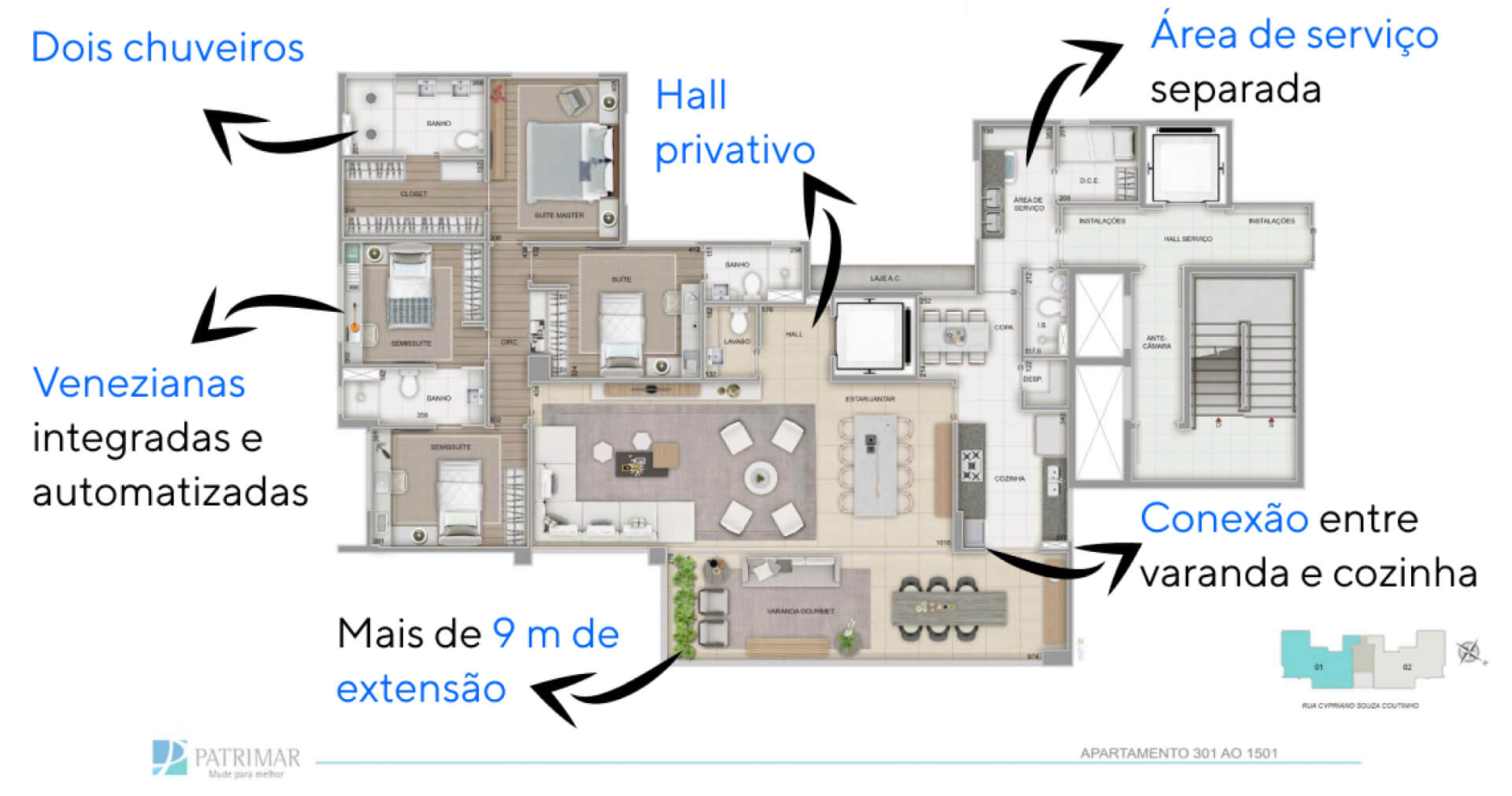 Planta do St. Tropez. floorplan